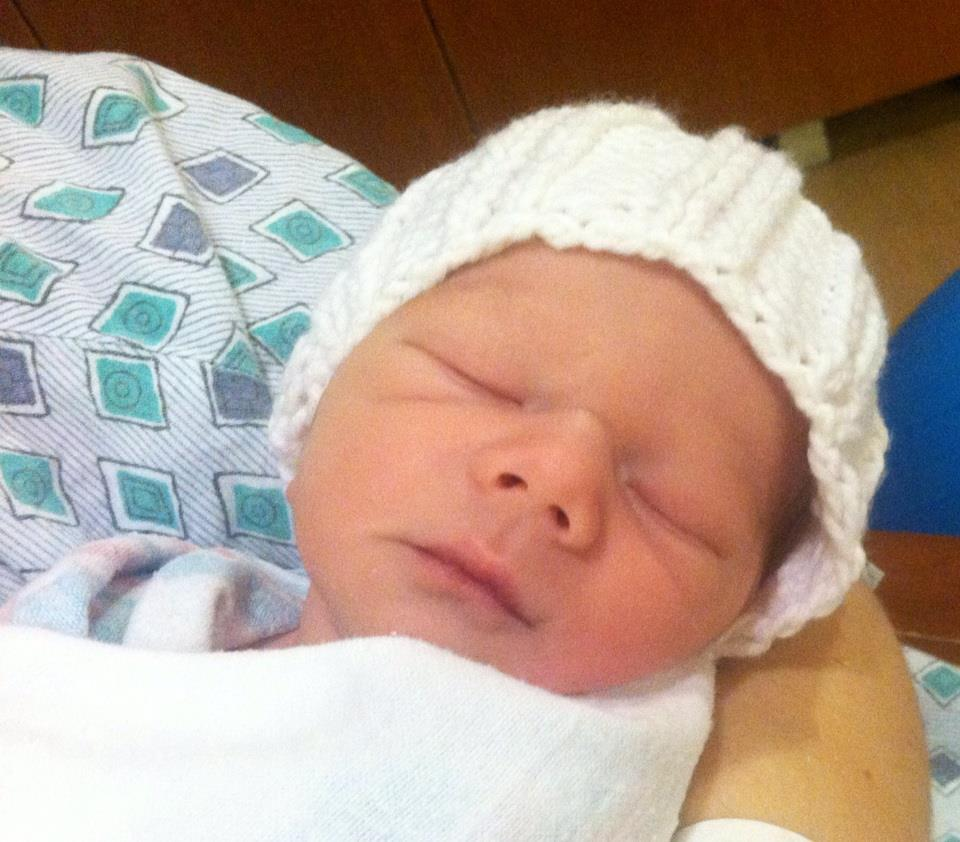 Hudson's Newborn Face
